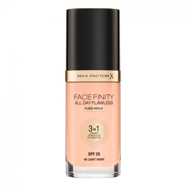 Тональная основа MAX FACTOR FACEFINITY ALL DAY FLAWLESS 3-IN-1 №40, 30 мл