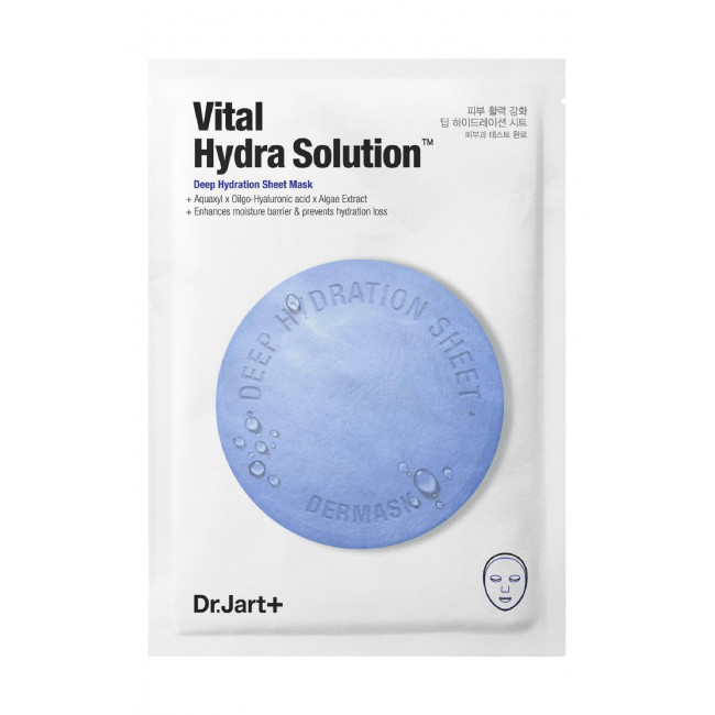 DR.JART+ Маска тканинна Dermask Water Jet Vital Hydra Solution зволожуюча маска з гіалуроновою кислотою, 28 мл.