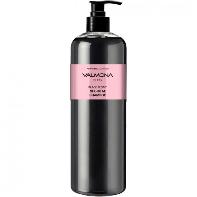 VALMONA Шампунь для волос Powerful Solution Black Peony Seoritae Shampoo с протеинами черных бобов и пионом 480мл