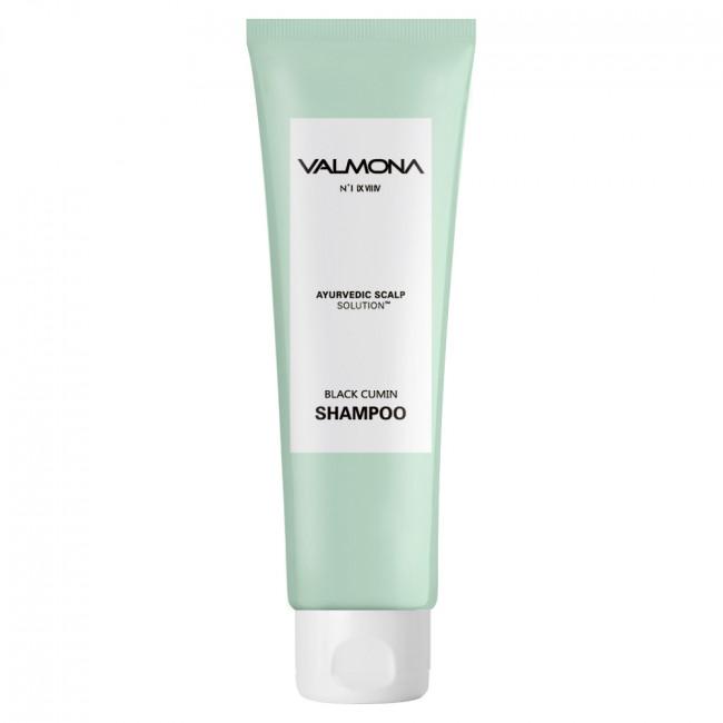 VALMONA Шампунь для волос Ayurvedic Scalp Solution Black Cumin Shampoo с комплексом из целебных трав, 100мл