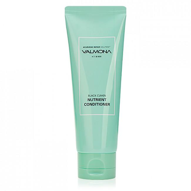 VALMONA Кондиционер для волос Ayurvedic Repair Solution Black Cumin Nutrient Conditioner целебный с экстрактами лечебных трав, 100мл