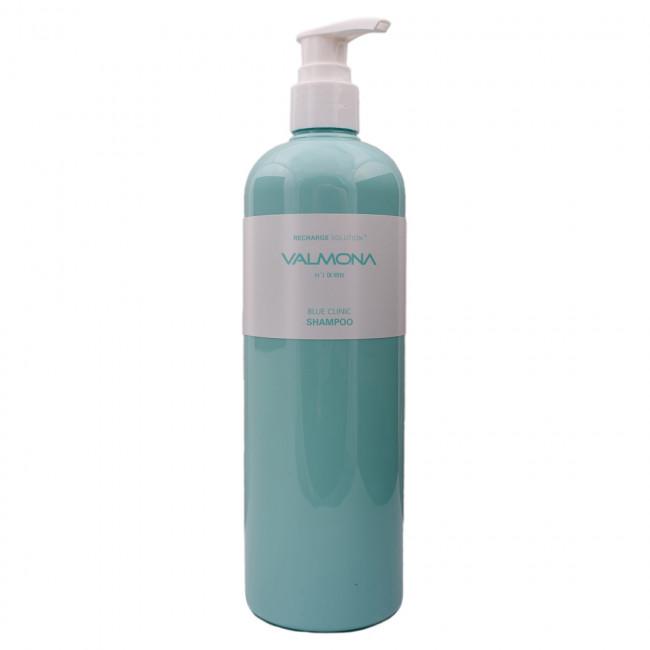 VALMONA Шампунь для волос Recharge Solution Blue Clinic Shampoo увлажняющий, 480мл
