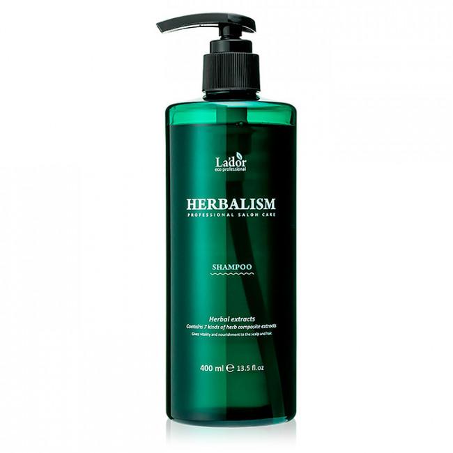 LADOR Шампунь успокаивающий Lador Herbalism Shampoo с травяными экстрактами 400мл.