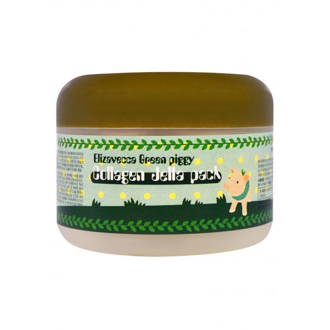 Elizavecca Маска для лица коллагеновая Green Piggy Collagen Jella Pack, 100ml