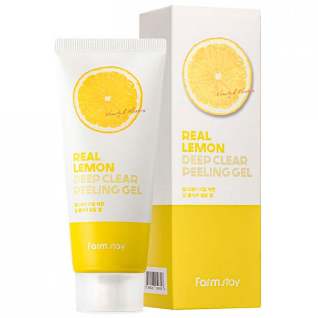 FARMSTAY Пилинг-гель Real Lemon Deep Clear Peeling Gel глубоко очищающий, 100мл