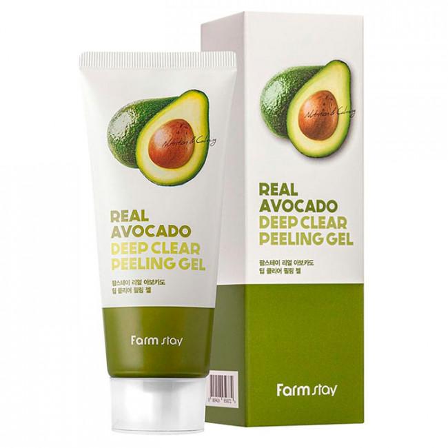 FARMSTAY Пилинг-гель Real Avocado Deep Clear Peeling Gel глубоко очищающий, 100мл
