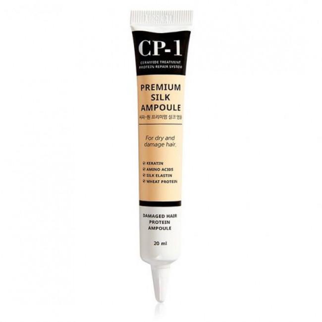 ESTHETIC HOUSE Сыворотка для волос CP-1 Premium Silk Ampoule восстанавливающая с протеинами шелка, 20 мл