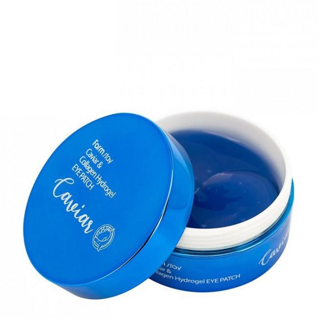 FARMSTAY Гидрогелевые патчи Caviar & Collagen Hydrogel Eye Patch, 60шт
