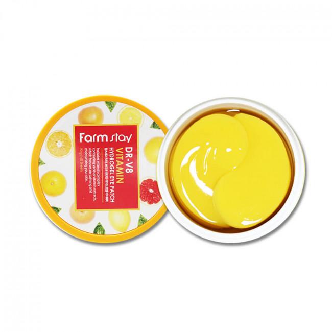 FARMSTAY Гидрогелевые патчи DR-V8 Vitamin Hydrogel Eye Patch витаминные, 60шт
