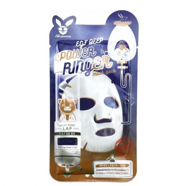 ELIZAVECCA Маска тканинна Face Care Egf Deep Power Ringer Mask для активної регенерації епідермісу, 23мл