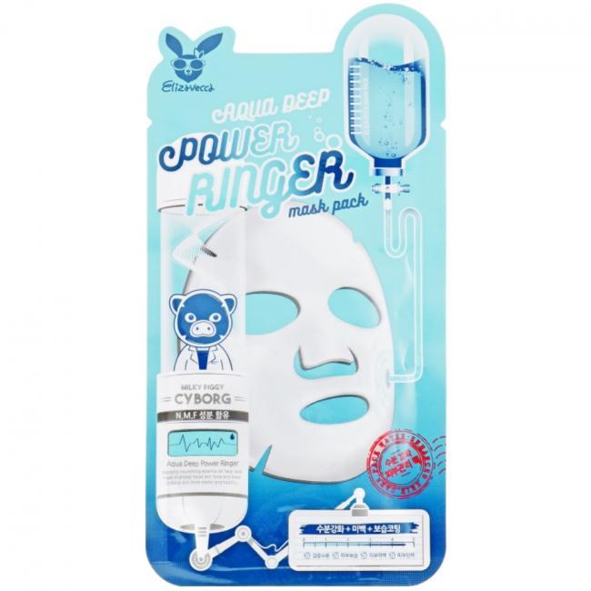 ELIZAVECCA Маска тканинна Face Care Aqua Deep Power Ringer Mask зволожуюча для сухої шкіри, 23мл