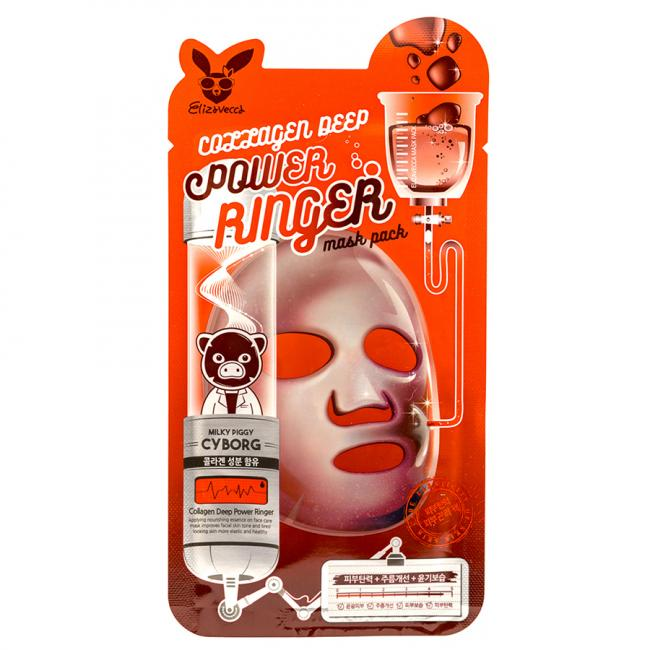 ELIZAVECCA Маска тканинна Face Care Collagen Deep Power Mask колагенова, 23мл