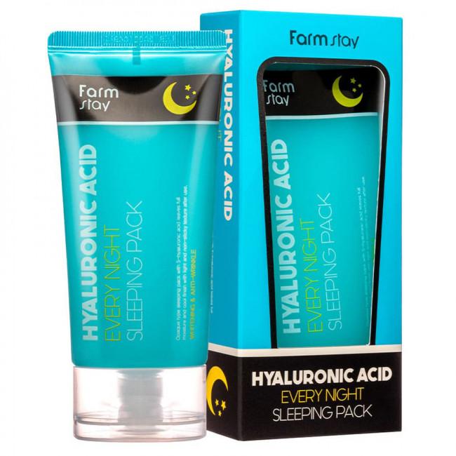 FARMSTAY Маска ночная Hyaluronic Acid Every Night Sleeping Pack с гиалуроновой кислотой, 120мл