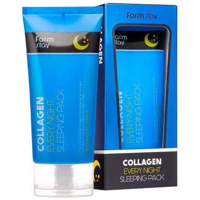 FARMSTAY Маска ночная Collagen Every Night Sleeping Pack с коллагеном, 120мл