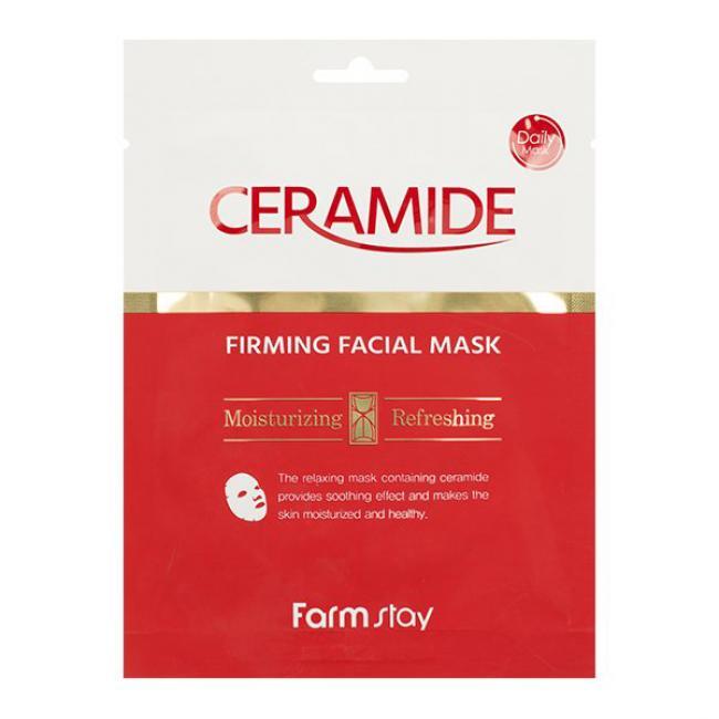 FARMSTAY Тканевая маска Ceramide Firming Facial Mask укрепляющая с керамидами, 27мл