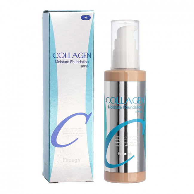 ENOUGH Тональна основа Collagen Moisture Foundation SPF15 з екстрактом жасмину і колагеном №13