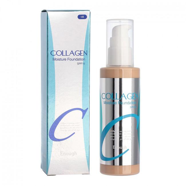 ENOUGH Тональная основа Collagen Moisture Foundation SPF15 с экстрактом жасмина и коллагеном №21