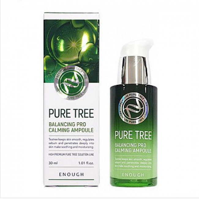 ENOUGH Успокаивающая сыворотка Pure Tree Balancing Pro Calming Ampoule с экстрактом чайного дерева, 30ml