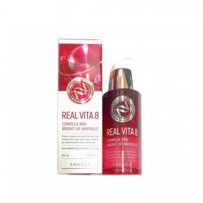 ENOUGH Освітлююча сироватка Real Vita 8 Complex Pro Bright Up Ampoule з екстрактом обліпихи, 30ml