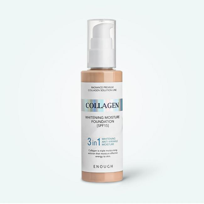 ENOUGH Тональний крем Collagen Whitening Moisture Foundation 3in1 SPF15 освітлюючий з колагеном №13, 100ml