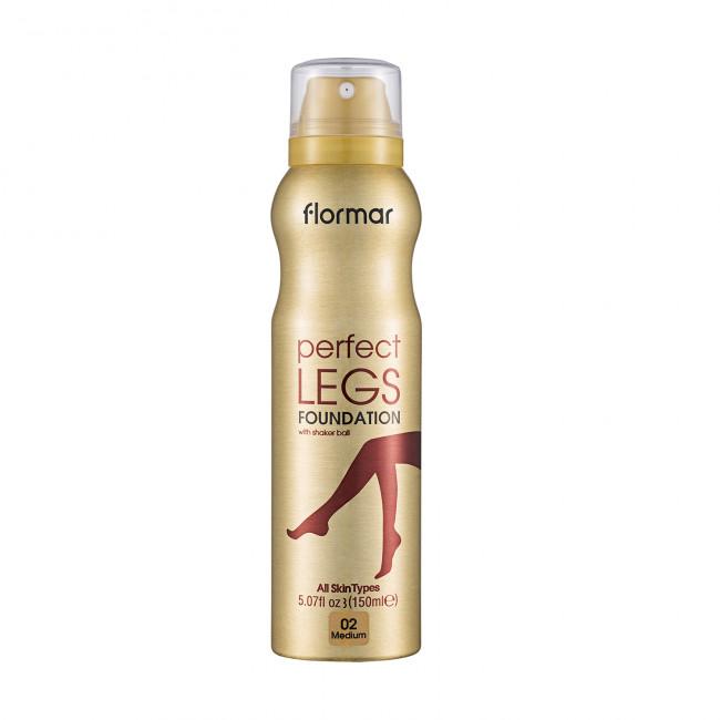 FLORMAR Тональний крем PERFECT LEGS для ніг №02 MEDIUM, 150 мл