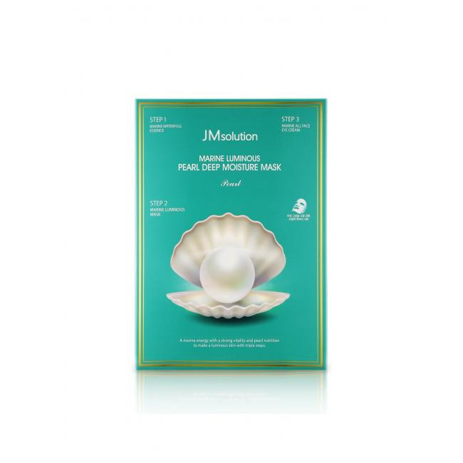 JM SOLUTION Трехшаговая маска Marine Luminous Pearl Balancing Mask для сияния кожи, 30мл.