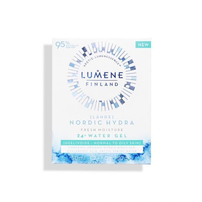 LUMENE Аква-гель LAHDE FRESH MOISTURE 24H зволожуючий та освіжаючий для нормальної та жирної шкіри