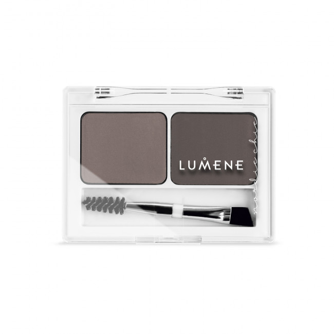 LUMENE Палетка для бровей NORDIC CHIC EXTRA STAY Medium Brown