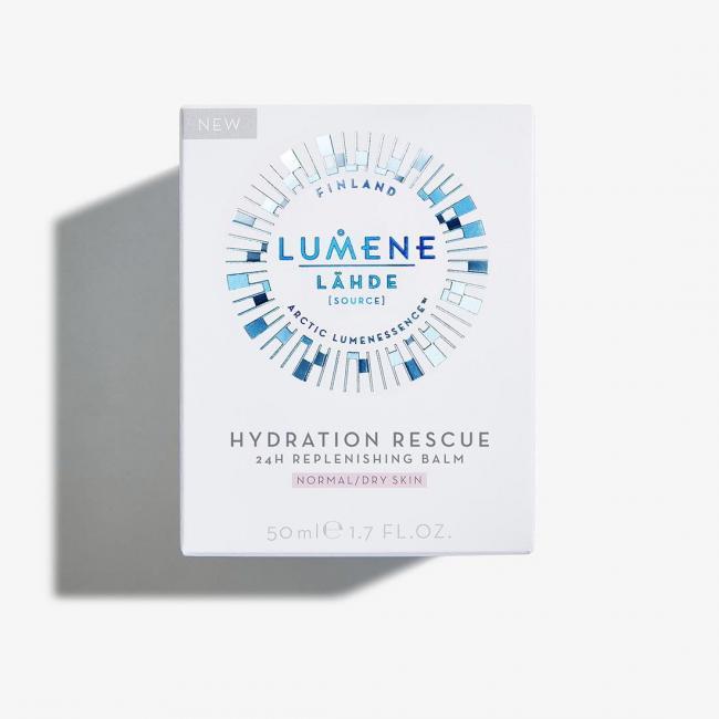 LUMENE Крем-бальзам денний LAHDE HYDRATION RESCUE 24H відновлюючий для нормальної та сухої шкіри , 50 мл