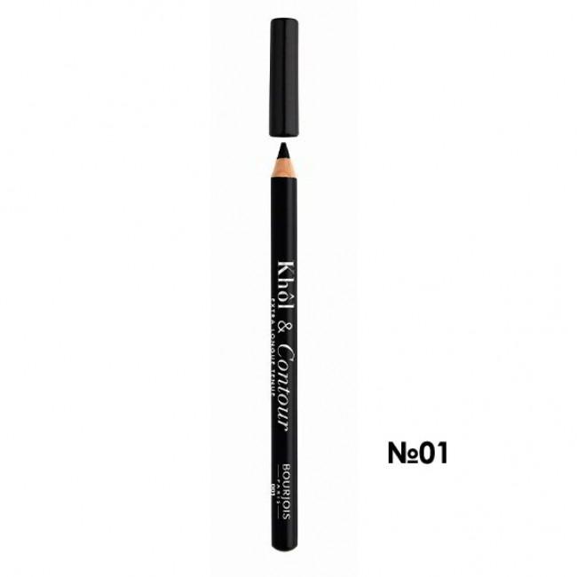 BOURJOIS Олівець для очей KHOL CONTOUR NEW 2017 контурний №01 чорний