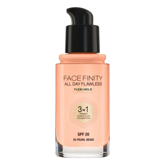 MAX FACTOR Тональная основа FACEFINITY ALL DAY FLAWLESS 3-IN-1 №35, Pearl Beige 30 мл