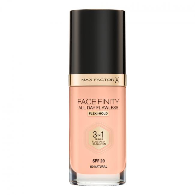 Тональная основа MAX FACTOR FACEFINITY ALL DAY FLAWLESS 3-IN-1 №50, 30 мл
