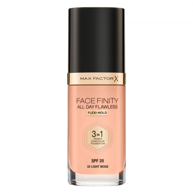 MAX FACTOR Тональна основа FACEFINITY ALL DAY FLAWLESS 3-IN-1 №32, Light Beige 30 мл