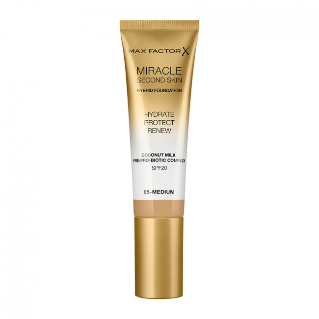 MAX FACTOR Тональна основа MIRACLE SECOND SKIN №05 Medium