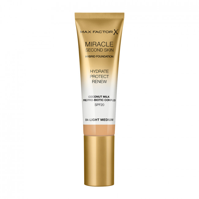 MAX FACTOR Тональна основа MIRACLE SECOND SKIN №04 Light Medium