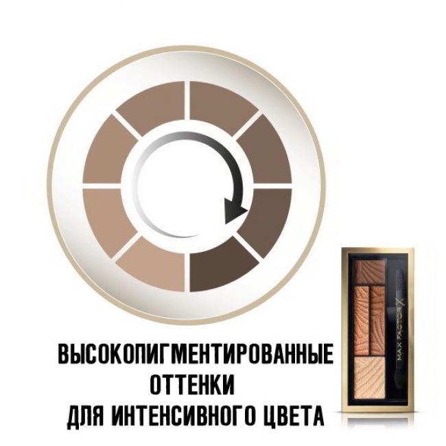 MAX FACTOR Тени для век и бровей SMOKEY EYE DRAMA 2-IN-1 KIT №03