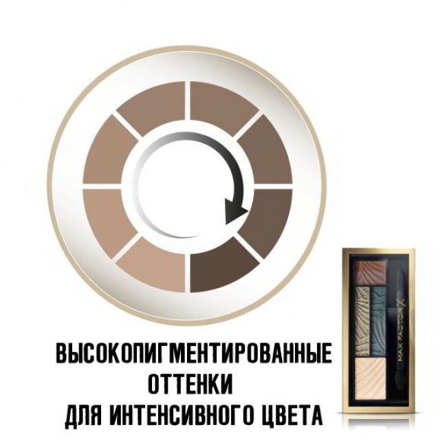 MAX FACTOR Тени для век и бровей SMOKEY EYE DRAMA 2-IN-1 KIT №05