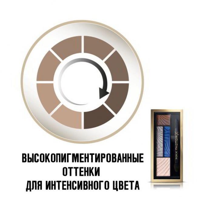 MAX FACTOR Тени для век и бровей SMOKEY EYE DRAMA 2-IN-1 KIT №06