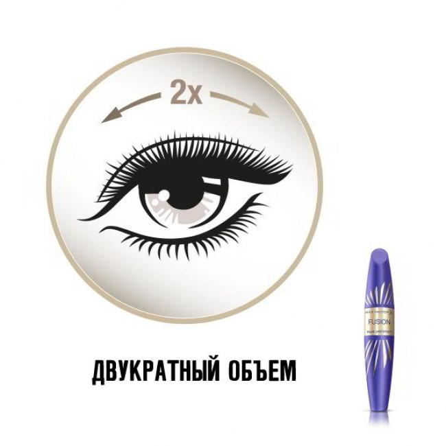 MAX FACTOR Туш FALSE LASH EFFECT FUSION чорна, 13.1 мл