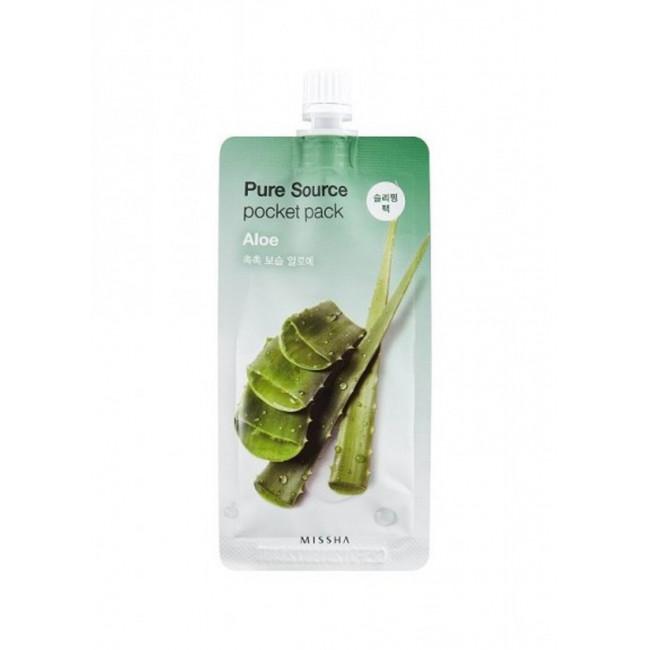 MISSHA Маска для обличчя нічна Pure Source Pocket Pack Aloe, 10 мл.
