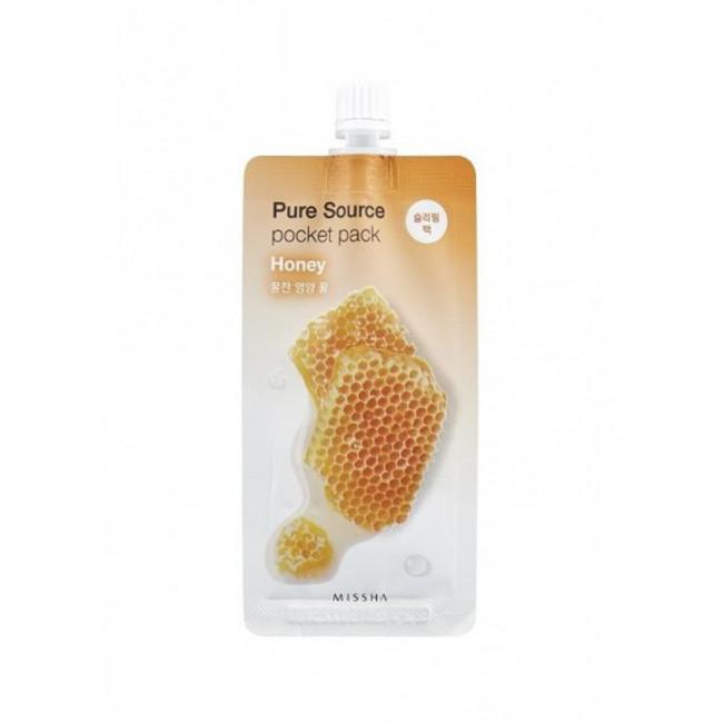 MISSHA Маска для обличчя нічна Pure Source Pocket Pack Honey, 10 мл.