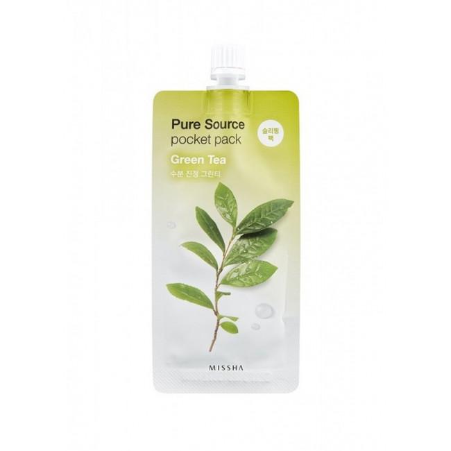 MISSHA Маска для обличчя нічна Pure Source Pocket Pack Green Tea, 10 мл.