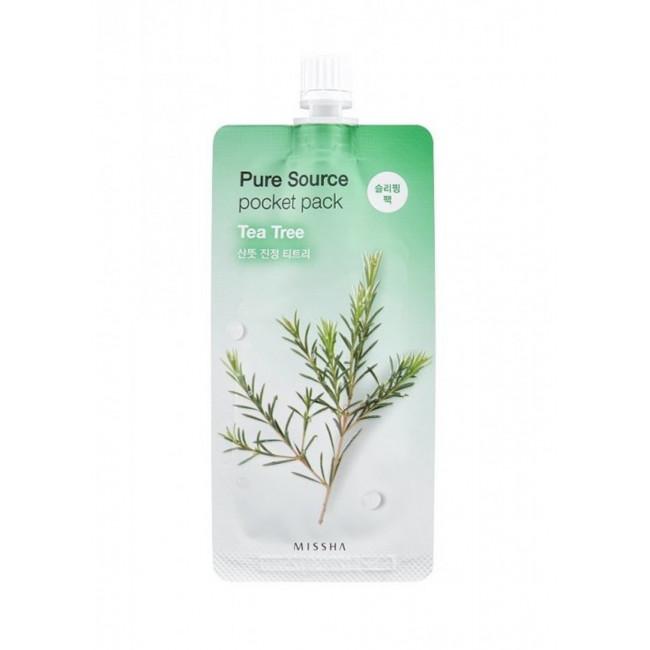 MISSHA Маска для обличчя нічна Pure Source Pocket Pack Tea Tree, 10 мл.
