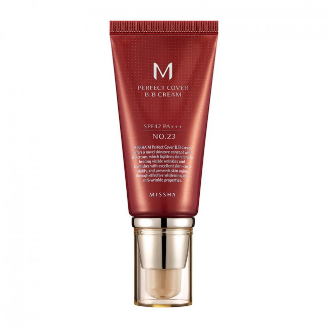 MISSHA ВВ крем M Perfect Cover BB Cream SPF42 PA+++ №23 Natural Beige, 50 мл.