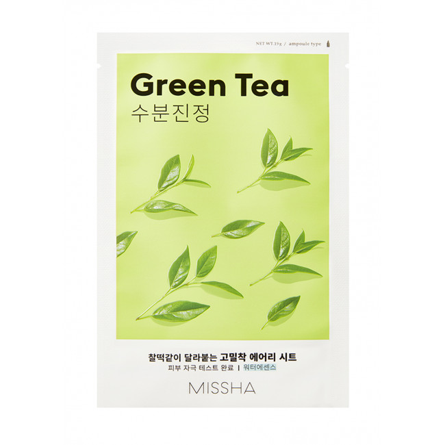 MISSHA Маска для лица Airy Fit Sheet Mask #green tea, 19g