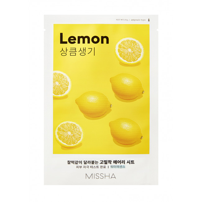 MISSHA Маска для лица Airy Fit Sheet Mask #lemon, 19g