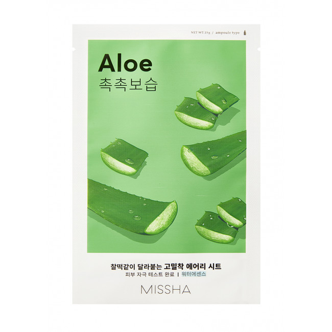 MISSHA Маска для лица Airy Fit Sheet Mask #aloe, 19g