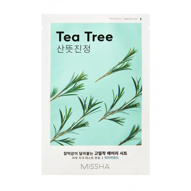 MISSHA Маска для лица Airy Fit Sheet Mask #tea tree, 19g