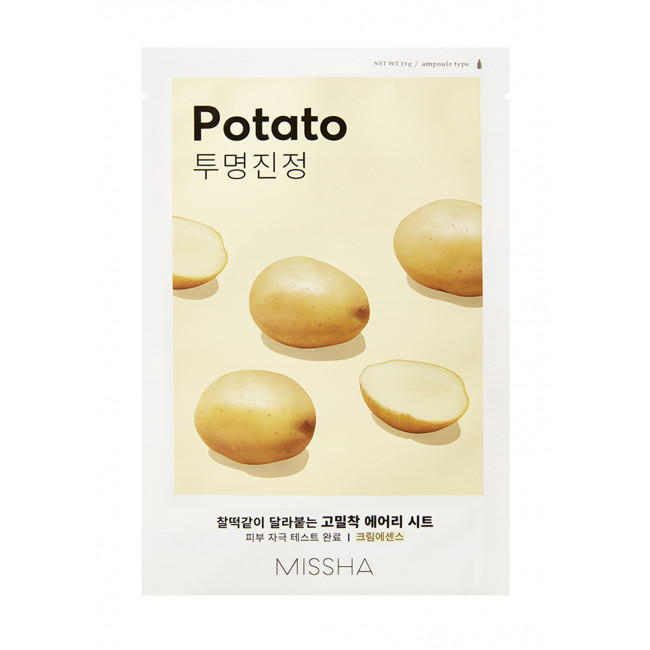 MISSHA Маска для лица Airy Fit Sheet Mask #Potato, 19g