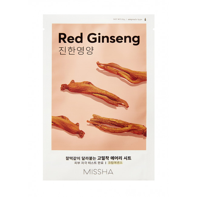 MISSHA Маска тканинна Airy Fit Sheet Mask #Red Ginseng, 19g
